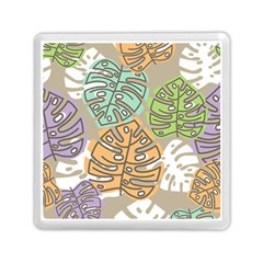 Pattern Leaves Banana Rainbow Memory Card Reader (square) by HermanTelo