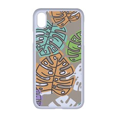 Pattern Leaves Banana Rainbow Iphone Xr Seamless Case (white)