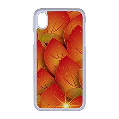Pattern Texture Leaf Iphone Xr Seamless Case (white)