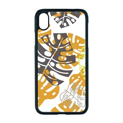 Pattern Leaves Iphone Xr Seamless Case (black)