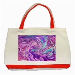 Pattern Texture Art Rainbow Classic Tote Bag (red) by HermanTelo