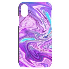 Pattern Texture Art Rainbow Iphone X/xs Black Uv Print Case