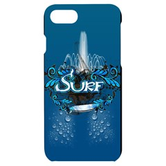 Sport, Surfboard With Water Drops Iphone 7/8 Black Uv Print Case by FantasyWorld7