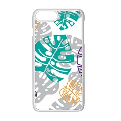 Pattern Leaves Rainbow Iphone 8 Plus Seamless Case (white)