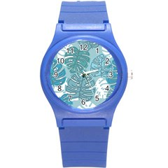 Pattern Leaves Banana Round Plastic Sport Watch (s)