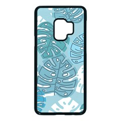 Pattern Leaves Banana Samsung Galaxy S9 Seamless Case(black)