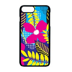 Pattern Leaf Polka Rainbow Iphone 8 Plus Seamless Case (black)