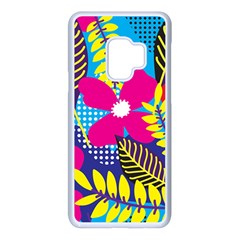 Pattern Leaf Polka Rainbow Samsung Galaxy S9 Seamless Case(white)