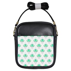 Plant Pattern Green Leaf Flora Girls Sling Bag by HermanTelo