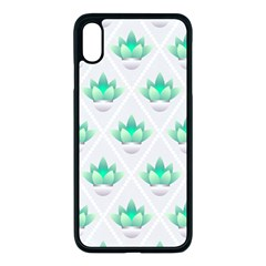 Plant Pattern Green Leaf Flora Iphone Xs Max Seamless Case (black)