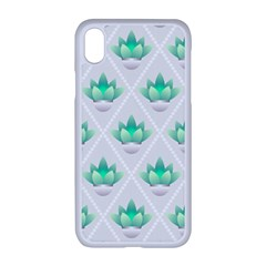 Plant Pattern Green Leaf Flora Iphone Xr Seamless Case (white)