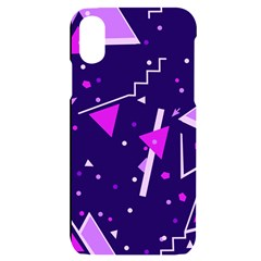 Purple Blue Geometric Pattern Iphone X/xs Black Uv Print Case