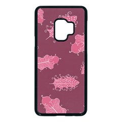 Plumelet Pen Ethnic Elegant Hippie Samsung Galaxy S9 Seamless Case(black)