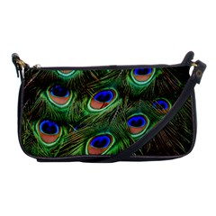 Peacock Feathers Plumage Iridescent Shoulder Clutch Bag by HermanTelo