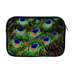 Peacock Feathers Plumage Iridescent Apple Macbook Pro 17  Zipper Case by HermanTelo