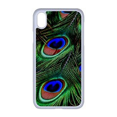 Peacock Feathers Plumage Iridescent Iphone Xr Seamless Case (white)