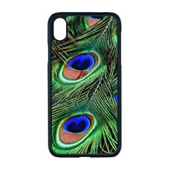 Peacock Feathers Plumage Iridescent Iphone Xr Seamless Case (black)