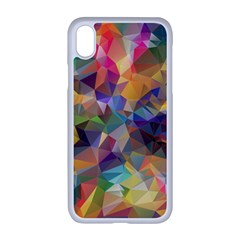 Polygon Wallpaper Iphone Xr Seamless Case (white)