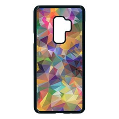 Polygon Wallpaper Samsung Galaxy S9 Plus Seamless Case(black)