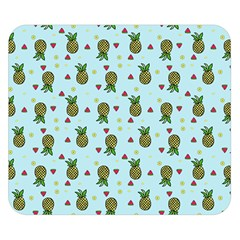 Pineapple Watermelon Fruit Lime Double Sided Flano Blanket (small)