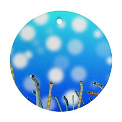 Sea Underwater Life Fish Ornament (round) by HermanTelo
