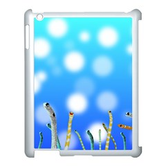 Sea Underwater Life Fish Apple Ipad 3/4 Case (white) by HermanTelo