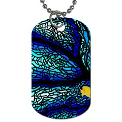 Sea Coral Stained Glass Dog Tag (two Sides)