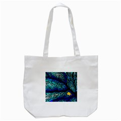 Sea Coral Stained Glass Tote Bag (white)