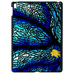 Sea Coral Stained Glass Apple Ipad Pro 9 7   Black Seamless Case