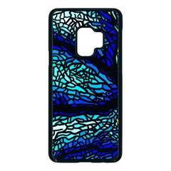 Sea Coral Stained Glass Samsung Galaxy S9 Seamless Case(black)