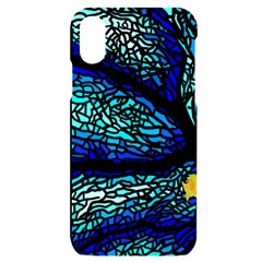Sea Coral Stained Glass Iphone X/xs Black Uv Print Case