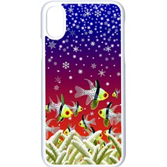Sea Snow Christmas Coral Fish Iphone X Seamless Case (white)