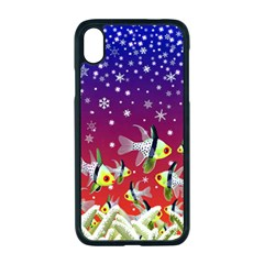 Sea Snow Christmas Coral Fish Iphone Xr Seamless Case (black)