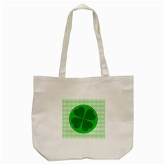 Shamrock Luck Day Tote Bag (cream)