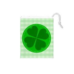 Shamrock Luck Day Drawstring Pouch (small)