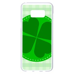 Shamrock Luck Day Samsung Galaxy S8 Plus White Seamless Case by HermanTelo