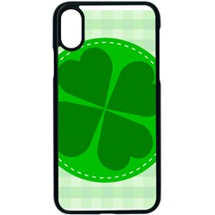 Shamrock Luck Day Iphone X Seamless Case (black)