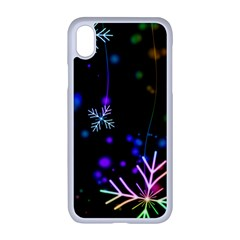 Snowflakes Iphone Xr Seamless Case (white)