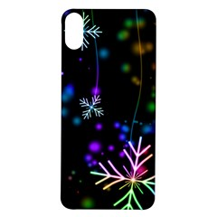 Snowflakes Iphone X/xs Soft Bumper Uv Case