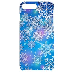 Snowflake Background Blue Purple Iphone 7/8 Plus Black Uv Print Case