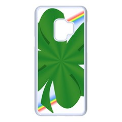 Shamrock Clover Saint Patrick Leaves Samsung Galaxy S9 Seamless Case(white)