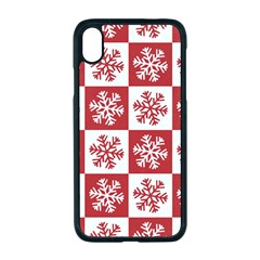 Snowflake Red White Iphone Xr Seamless Case (black)