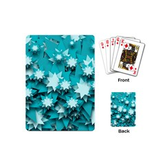 Stars Christmas Ice 3d Playing Cards (mini)