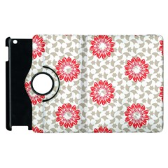 Stamping Pattern Red Apple Ipad 2 Flip 360 Case by HermanTelo
