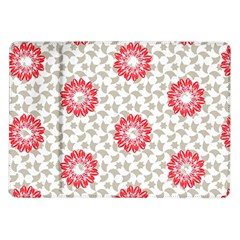 Stamping Pattern Red Samsung Galaxy Tab 10 1  P7500 Flip Case by HermanTelo