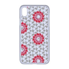 Stamping Pattern Red Iphone Xr Seamless Case (white)