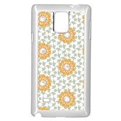Stamping Pattern Yellow Samsung Galaxy Note 4 Case (white)
