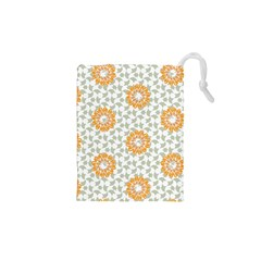 Stamping Pattern Yellow Drawstring Pouch (xs)