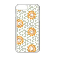 Stamping Pattern Yellow Iphone 8 Plus Seamless Case (white)