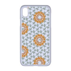 Stamping Pattern Yellow Iphone Xr Seamless Case (white)